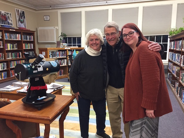 Telescope Donated to a Deserving Library