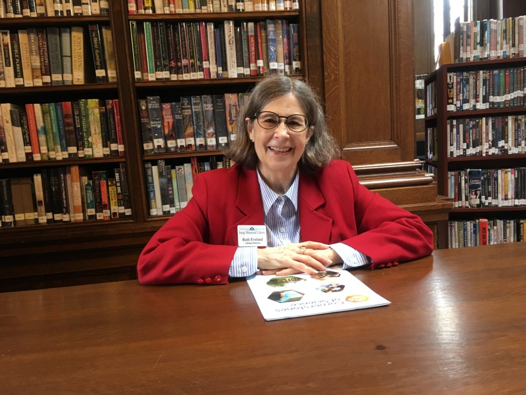 Ruth Eveland, Library Director