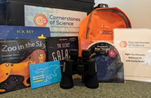Night Sky Binocular Backpack with books