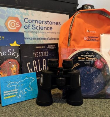 Night Sky Binocular Backpack with books