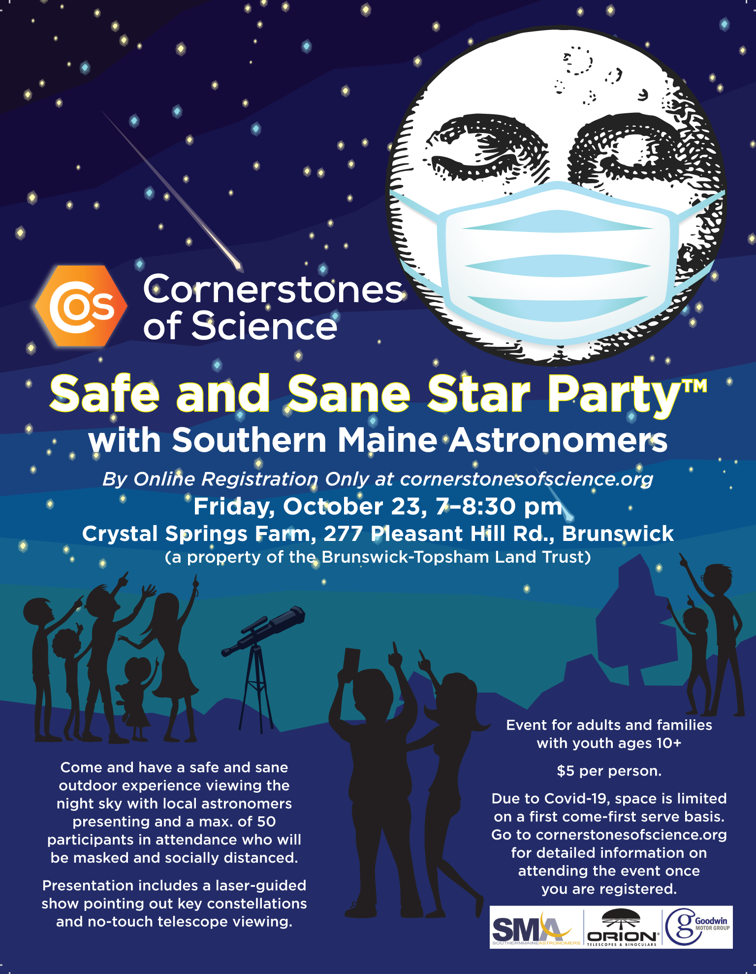 Safe and Sane Star Party flyer