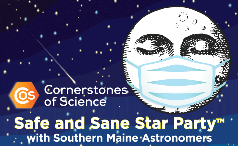 Cornerstones of Science logo with masked moon