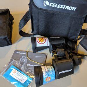 Night Sky Binocular Backpack kit photo, showing binoculars and accessories
